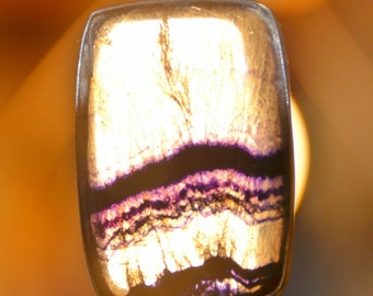 Blue John Fluorite Crystal Rectangle Pendant