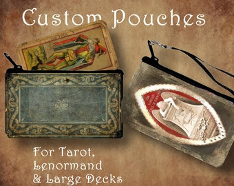 CUSTOM TAROT POUCH - pouches for Lenormand, Tarot and Large Decks!
