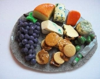 Barbie  doll food  lunch snack cheeseboard