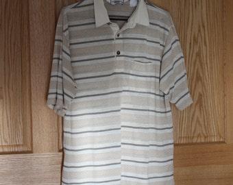 "Lightweight XL short sleeve mens shirt ""Classics"" by Palmland, cotton and ployester"