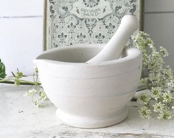 A lovely little vintage French mortar and pestle
