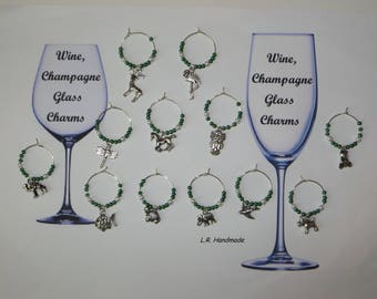 Wine glass charm set Animal, Wine / Champagne glass decorations, wine markers, table decor, party decor, birthday gift, Christmas gifts