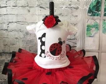 Ladybug birthday outfit, Ladybug outfit, Ladybug first birthday outfit, ladybug tutu, ladybug tutu outfit, Lovebug birthday outfit