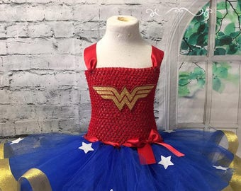 Wonder woman tutu, Wonder Woman dress, Wonder Woman Costume, Wonder Woman birthday outfit, Wonder Woman tutu dress