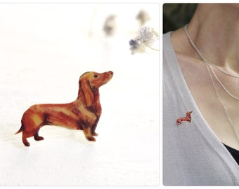 dachshund brooch, sausage dog, sausage dog brooch, teckel pin, dog brooch, animal jewelry, gift teckel lover, teckel, dog accessory