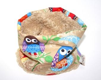"""Dogs loop tube scarf """"Owls beige"""""""