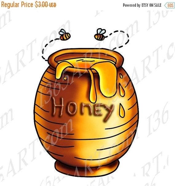 Clip Art Honey Clipart 50 off sale honey bees jar clipart clip art by i365art illustration coloring