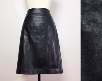 Black Leather Skirt / Soft Leather Skirt / Leather Mini Skirt / Leather Pencil Skirt / Leather Skirt 10