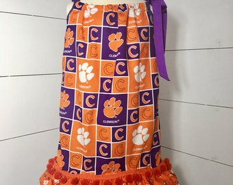 Clemson Dress, Clemson Tigers, Toddler Dress, Clemson Dress,Clemson Pillowcase Dress, A Prissy Stitch