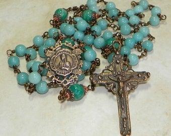 St. Kateri Tekawitha Catholic Lifetime Rosary - Free Shipping