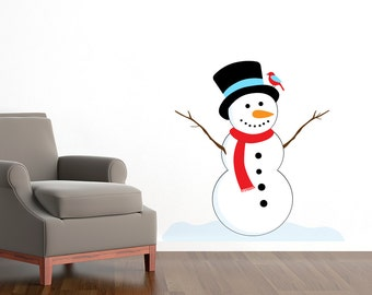 Snowman Winter Christmas Wall Sticker