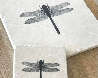 DRAGONFLY  natural stone tableware (various sizes)