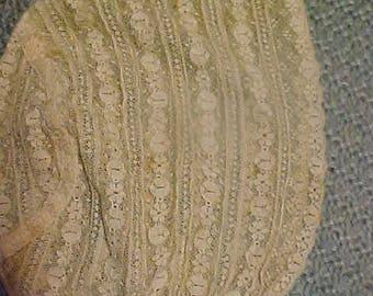 Antique Ecru Lace Babys Bonnet #2250