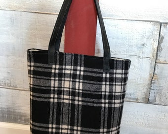 Buffalo plaid purse handbag shoulder bag tote