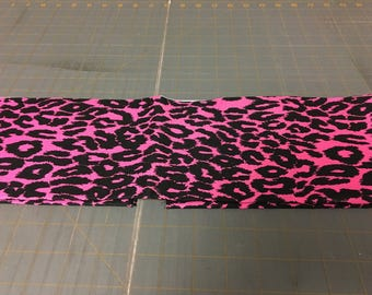 Pink and black leopard Fabric by the yard