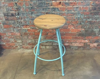 Bar stools, kitchen stool, wood and steel