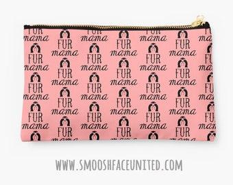 Shih Tzu zipper pouch, sleeve, pocket, clutch, bag, organizer - Shih Tzu fur mama fabric print - perfect for gifting!