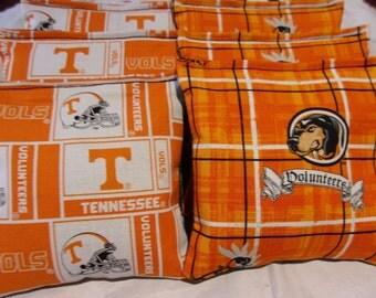 8 ACA Regulation Cornhole Bags - NCAA Tennessee Volunteers on 2 Awesome Prints