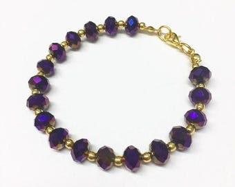 Deep Purple Crystal Bracelet
