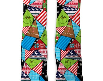 Custom Christmas Grinch SS Athletic Socks