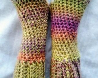 Crochet Fingerless Madeleine Gloves- Tapestry