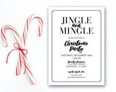 INSTANT DOWNLOAD Christmas party invitation / jingle and mingle invite / Holiday party / elegant Christmas invite / classic invite / 5x7