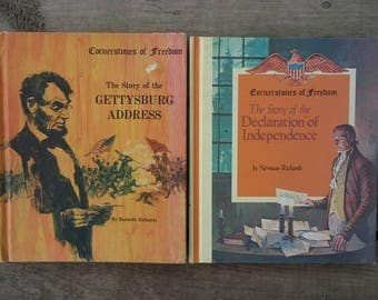 Gettysburgh Address and Declaration of Independence Books