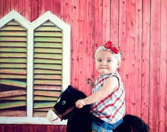 5ft x 5ft Red Barn Backdrop for Pictures – Barn Photography Backdrop – Photography Prop – Item 1794