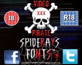 VIDEO PIRATE Commercial Font
