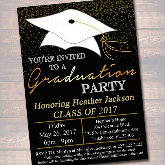 Unforgettable image within free printable graduation party invitations