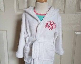 Childs Monogrammed Bath Robe