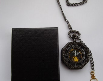 Steampunk  pocket watch, fob watch, time piece.Hand winder, Octangular watch