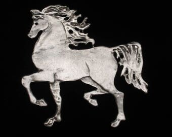 Large Horse Brooch Pin Vintage