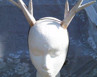 Antlers, Horns, Headband Fawn, Deer, Antler, Costume, Custom Colors, Large You Choose Colors Cosplay Antler headband Lightweight Adjustable