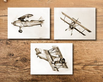 Boy Nursery Art - Boy Nursery Wall Art - Boy Nursery Decor - Boy Nursery Wall Decor - Boy Airplane Nursery Art  - Boy Room Decor