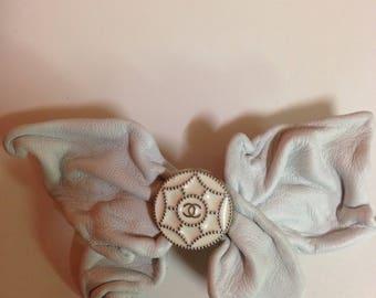 Authentic Chanel button repurposed into hand craft barrette