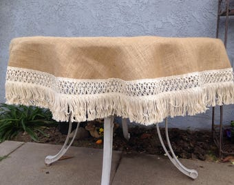 Attractive Cheap Burlap Round Table Cloth Table Cloth Burlap Table Cloth With Fringes  Table Linen With Round Table Cloth.