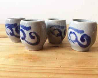 Set of 4 Japanese Sake Cups
