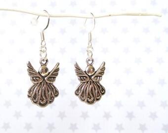 Angel earrings - Christmas earrings - Stocking stuffer - Angel jewellery - Christmas jewellery - Silver angels - Stocking filler - Etsy UK