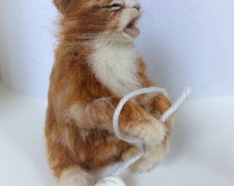 needle felted  kitten...meow !!!! NOW SOLD