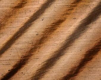 "RAW UMBER - 2.5 yard "" Cut Pure Silk Dupioni Fabric - Handwoven - 54"" Wide"