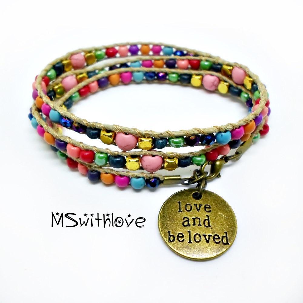 colorful wrap bracelet bracelet bohemian wrap bracelet
