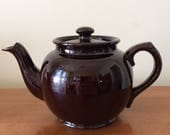 Vintage Sadler Brown Betty Teapot 3 Cup Made in England