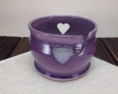 Purple ceramic yarn bowl ...