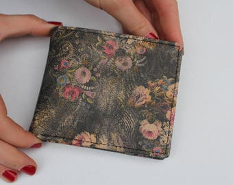 Alberta wallet Floral 21 Printed Leather Vintage Style
