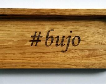 Bullet Journal Oak Pen Box. Pencil Box.