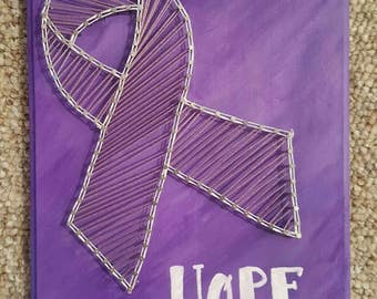 Cancer Awareness HOPE String Art