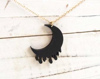 Moon Necklace-Black