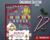 Gingerbread Decorating Party Invitation, Gingerbread Invitation, Cookie Decorating, Party Invitation, Gingerbread Party, Gingerbread, File