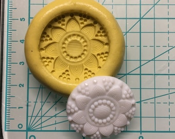 MANDALA STYLE BUTTON Design Flexible Mold